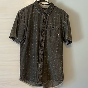 Vans Black Button Down Shirt